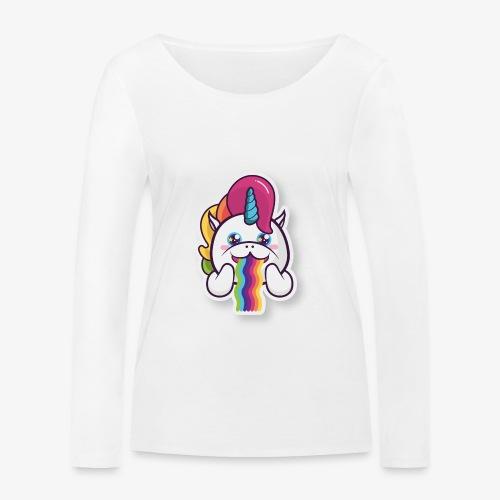 Funny Unicorn - Women's Organic Longsleeve Shirt by Stanley & Stella
