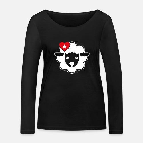 Schwarznasen Schaf Love - Frauen Bio-Langarmshirt von Stanley & Stella