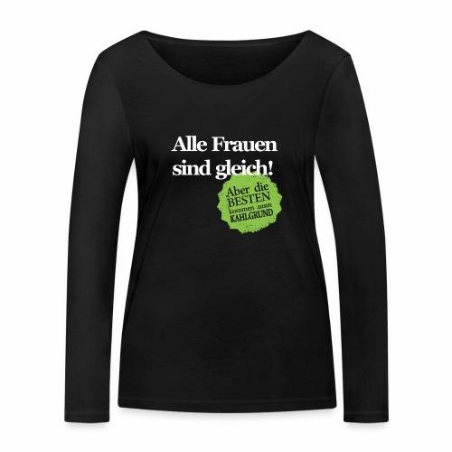 Frauen sind gleich, außer Kahlgründer - WEIß/GRÜN - Frauen Bio-Langarmshirt von Stanley & Stella