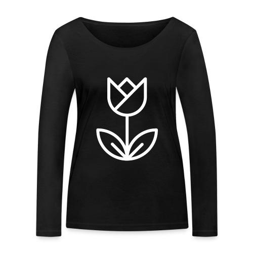Tulip white png - Women's Organic Longsleeve Shirt by Stanley & Stella