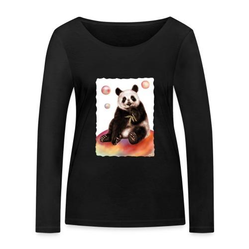Panda World - Maglietta a manica lunga ecologica da donna di Stanley & Stella