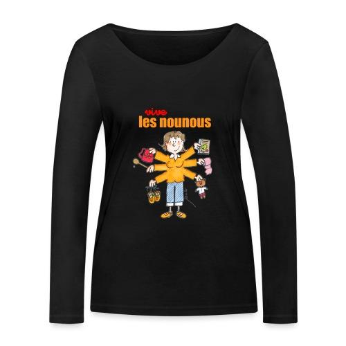 Danger ecole vive les nounous [mp] - T-shirt manches longues bio Stanley & Stella Femme