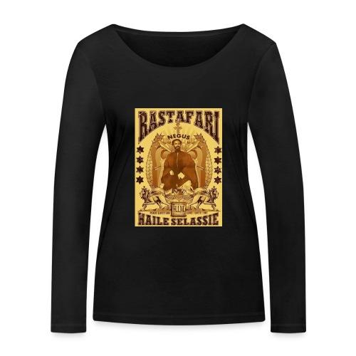 Rastafari Haile Selassie Reggae Roots JahBless - Frauen Bio-Langarmshirt von Stanley & Stella