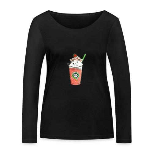 Catpuccino White - Women's Organic Longsleeve Shirt by Stanley & Stella