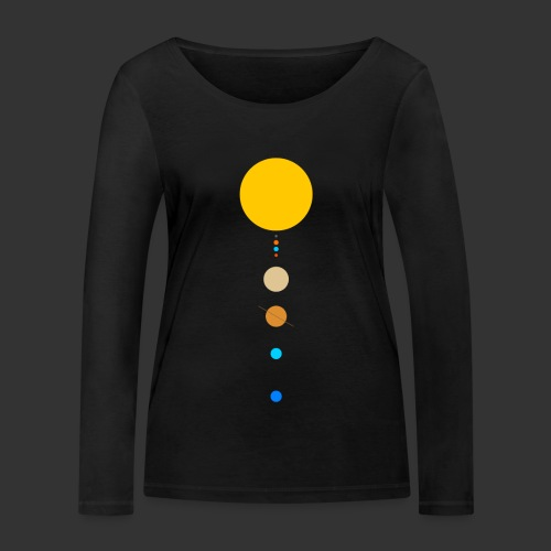 Solar System - Women's Organic Longsleeve Shirt by Stanley & Stella