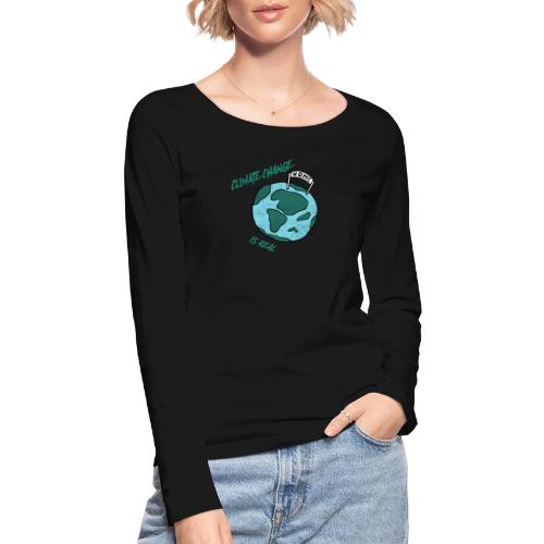 Climate change is real - Vrouwen bio shirt met lange mouwen van Stanley & Stella