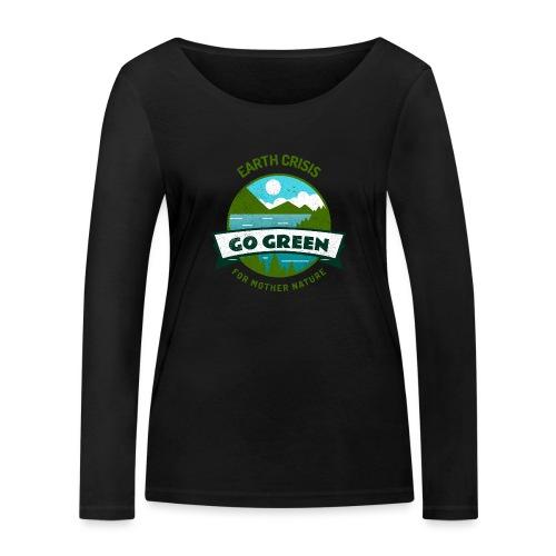 Earth Crisis Go Green For Mother Nature - Vrouwen bio shirt met lange mouwen van Stanley & Stella