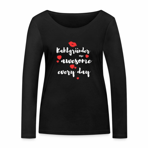 Kahlgründer Are Awesome Every Day - Frauen Bio-Langarmshirt von Stanley & Stella