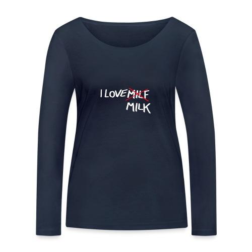 I Love MILK - Vrouwen bio shirt met lange mouwen van Stanley & Stella