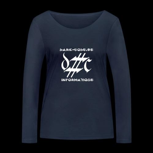Dark-Code Gothic Logo - T-shirt manches longues bio Stanley & Stella Femme