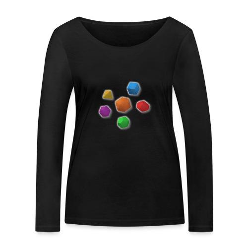 PolyDicePin - Women's Organic Longsleeve Shirt by Stanley & Stella
