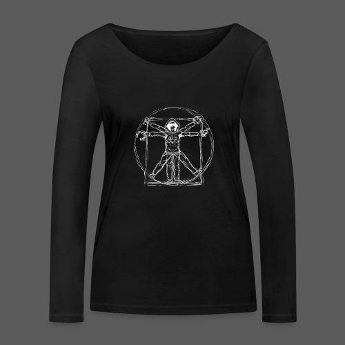 Vitruvian Gamer White Print - Frauen Bio-Langarmshirt von Stanley & Stella