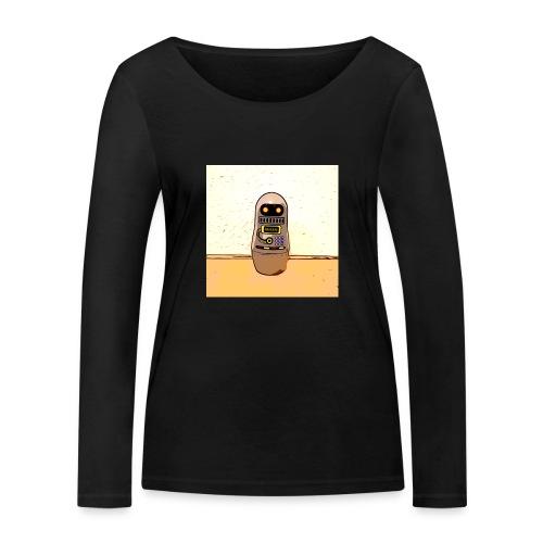 Lustiges Scifi Robot T-Shirt retro Geschenkidee - Frauen Bio-Langarmshirt von Stanley & Stella