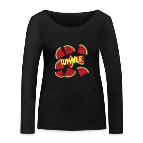 Sommer Sonne Wassermelone - Frauen Bio-Langarmshirt von Stanley & Stella