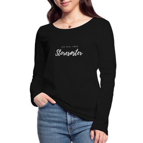 Jeg skal være storesøster - Økologisk Stanley & Stella langærmet T-shirt til damer