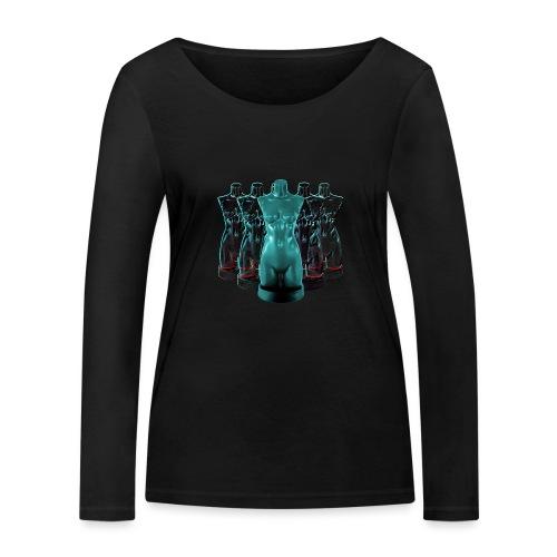 Lady Rosso Corsa and Her Dancers (turquoise) - Økologisk Stanley & Stella langærmet T-shirt til damer