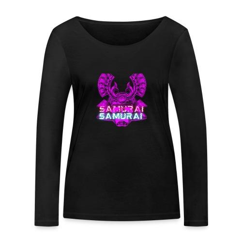 Cuberpunk samurai asian bushido shogun fighter - Ekologiczna koszulka damska z długim rękawem Stanley & Stella