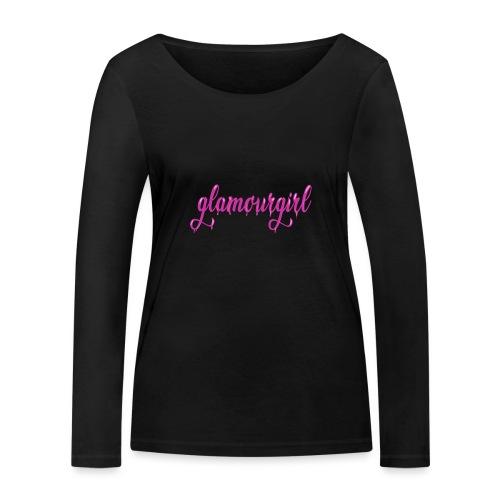 Glamourgirl dripping letters - Vrouwen bio shirt met lange mouwen van Stanley & Stella