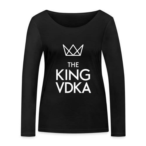 The King VDKA Logo weiss - Frauen Bio-Langarmshirt von Stanley & Stella