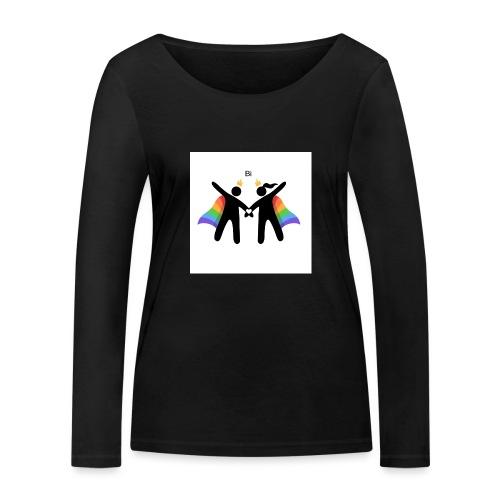 LGBT BI - Økologisk Stanley & Stella langærmet T-shirt til damer