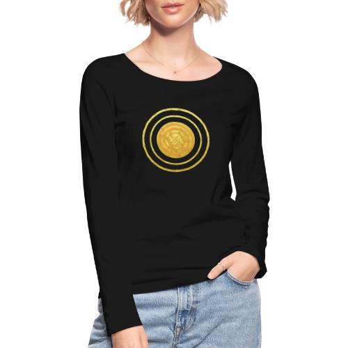 Glückssymbol Sonne - positive Schwingung - Spirale - Frauen Bio-Langarmshirt von Stanley & Stella