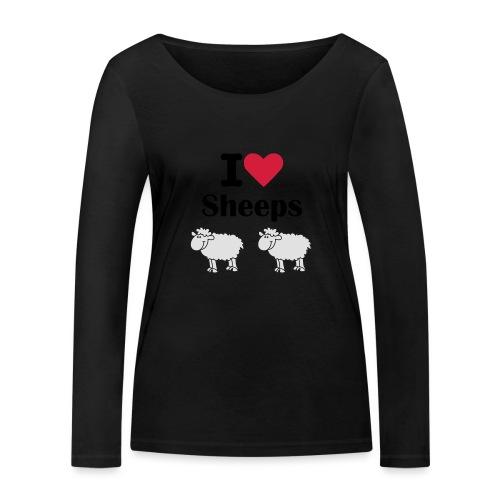 I-love-sheeps - T-shirt manches longues bio Stanley & Stella Femme