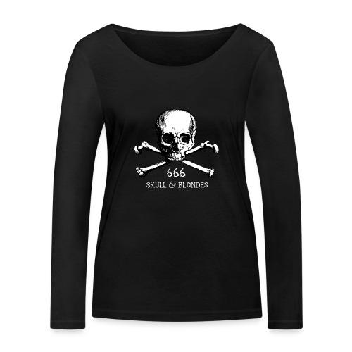 skull & blondes (white) - Frauen Bio-Langarmshirt von Stanley & Stella
