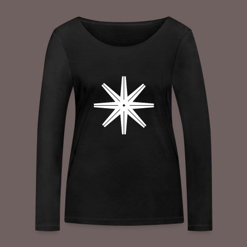 GBIGBO zjebeezjeboo - Rock - Octastar Blanc - T-shirt manches longues bio Stanley & Stella Femme