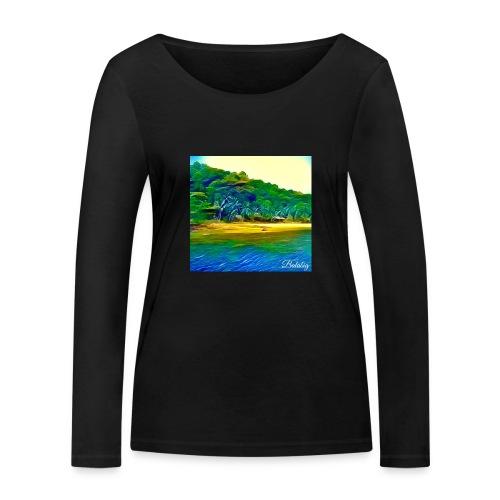 Tropical beach - Maglietta a manica lunga ecologica da donna di Stanley & Stella