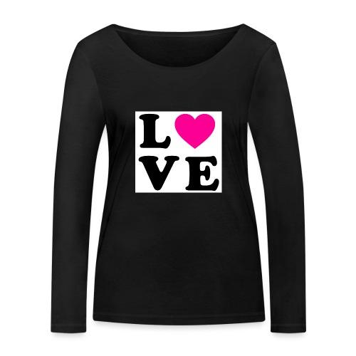 Love t-shirt - T-shirt manches longues bio Stanley & Stella Femme