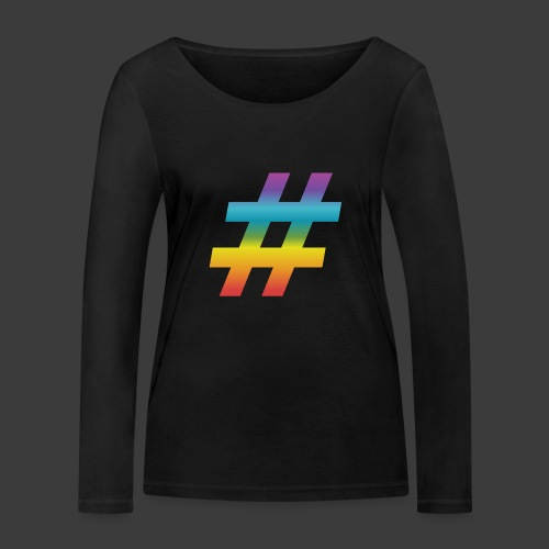 rainbow hash include - Women's Organic Longsleeve Shirt by Stanley & Stella