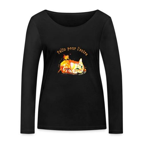 Chat roux,Félin pour l'autre - T-shirt manches longues bio Stanley & Stella Femme