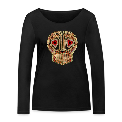 dead skull resembles herbaceous scary culture art - Women's Organic Longsleeve Shirt by Stanley & Stella