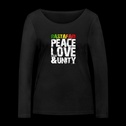 RASTAFARI - PEACE LOVE & UNITY - Frauen Bio-Langarmshirt von Stanley & Stella