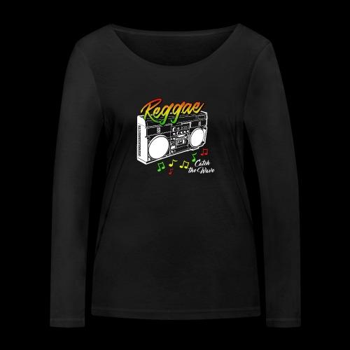 Reggae - Catch the Wave - Frauen Bio-Langarmshirt von Stanley & Stella