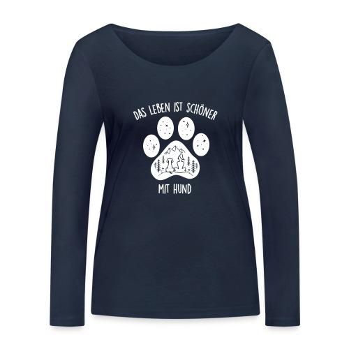 Vorschau: Leben mit Hund - Frauen Bio-Langarmshirt von Stanley & Stella