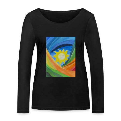 lachende-sonne - Frauen Bio-Langarmshirt von Stanley & Stella