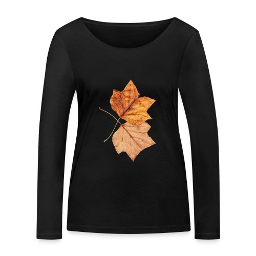 Blätter - Frauen Bio-Langarmshirt von Stanley & Stella