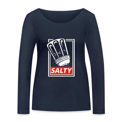 Salty white - Women's Organic Longsleeve Shirt by Stanley & Stella