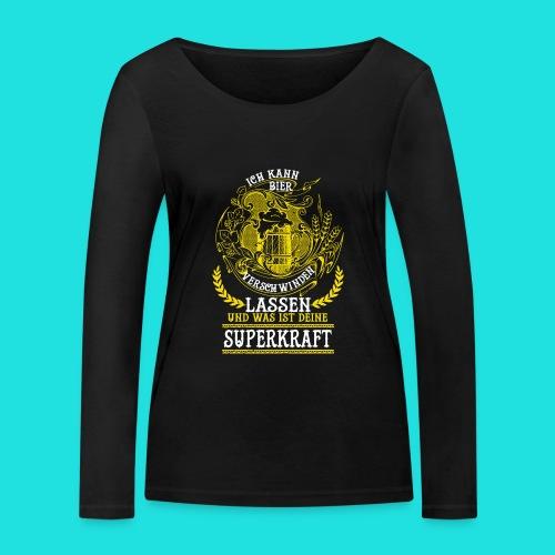 Bier Superkraft - Frauen Bio-Langarmshirt von Stanley & Stella