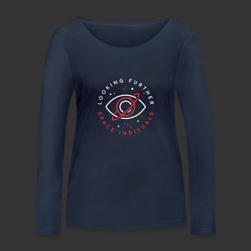 Space Individuals - Looking Farther Black - Women's Organic Longsleeve Shirt by Stanley & Stella