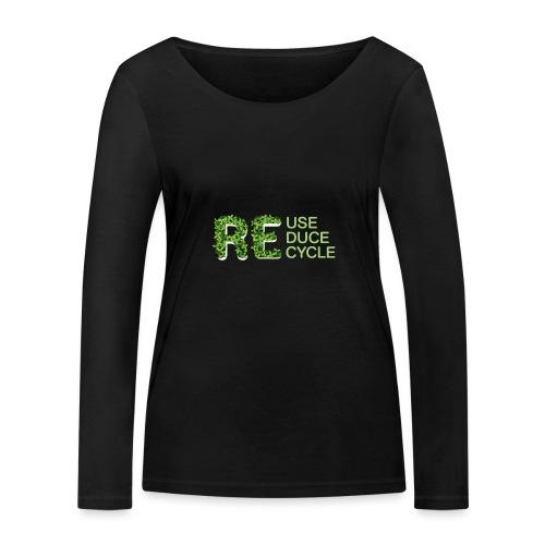 REuse REduce REcycle - Maglietta a manica lunga ecologica da donna di Stanley & Stella