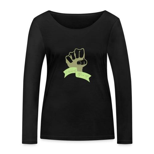 nevergiveup - T-shirt manches longues bio Stanley & Stella Femme