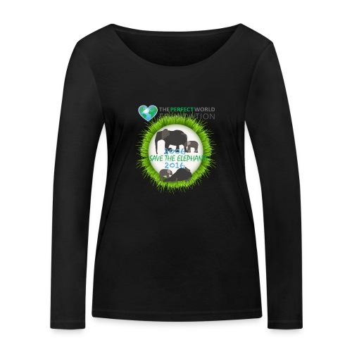 Save the elephant - Erik - Ekologisk långärmad T-shirt dam från Stanley & Stella