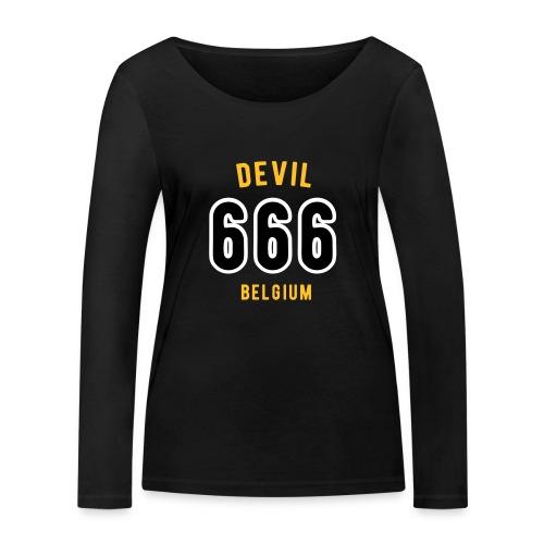 666 devil Belgium - T-shirt manches longues bio Stanley & Stella Femme