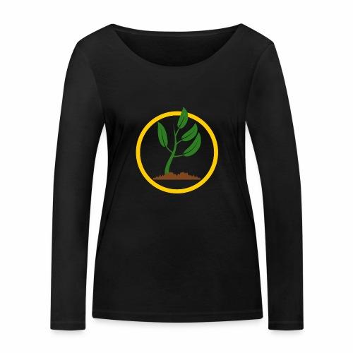 Setzlingemblem - Frauen Bio-Langarmshirt von Stanley & Stella