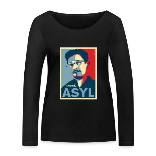 Asyl für Edward Snowden - Frauen Bio-Langarmshirt von Stanley & Stella