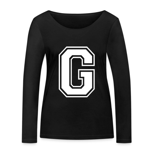 Grime Apparel G Grey Shirt. - Women's Organic Longsleeve Shirt by Stanley & Stella