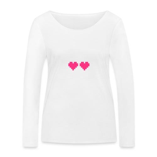 Skull Love - Vrouwen bio shirt met lange mouwen van Stanley & Stella