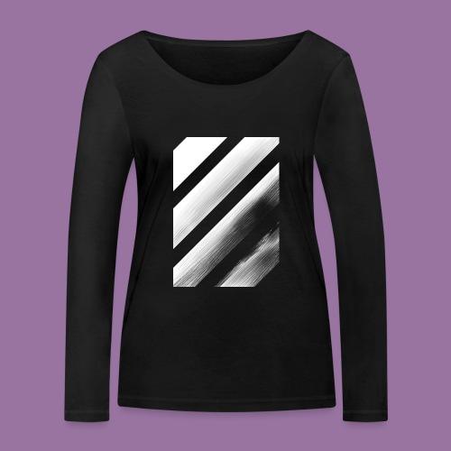 Stripes Diagonal White - Maglietta a manica lunga ecologica da donna di Stanley & Stella
